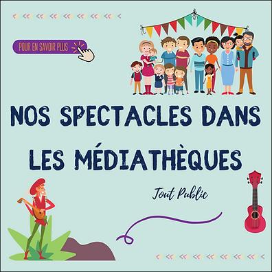 Spectacles musicaux médiathèques