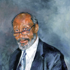 "Portrait of Sir Trevor Carmichael,  Oil on Linen 36"" x 30"""