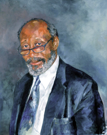 "Portrait of Sir Trevor Carmichael. Oil on Linen 30"" x 36"""