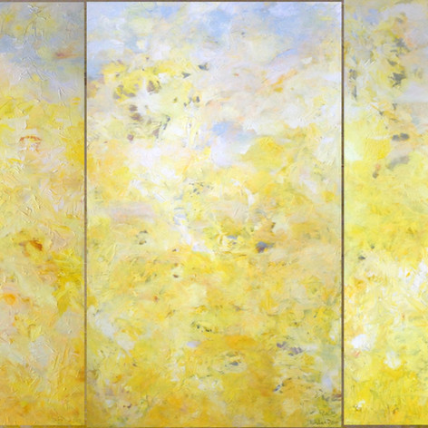Yellow Triptych.  Oil on Canvas. 9ft x 5ft
