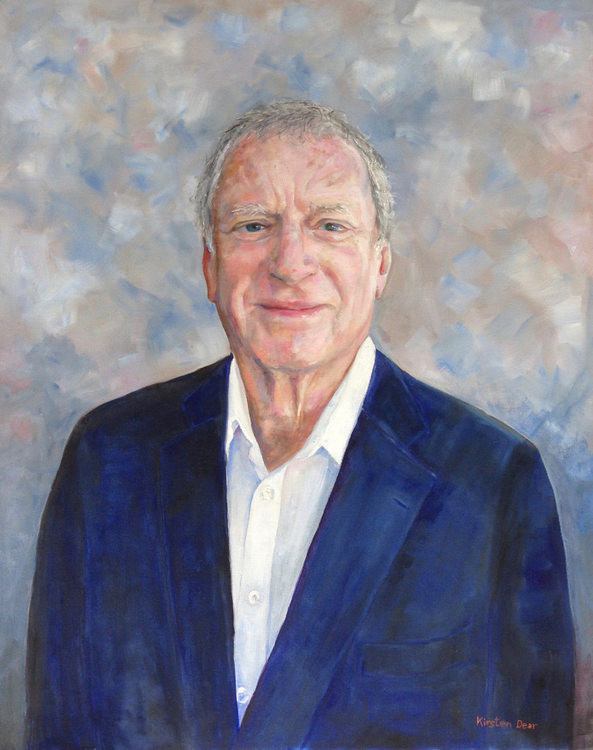 "Portrait of Richard Edghill.Oil on Canvas 24"" x30"""