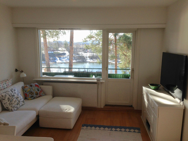View of sea from living area