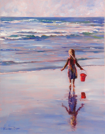 """Red Bucket. Oil on Canvas 18"""" x14"""""""