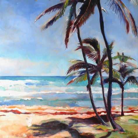 "Martins Bay.  Oil on Canvas 30"" x 24"""