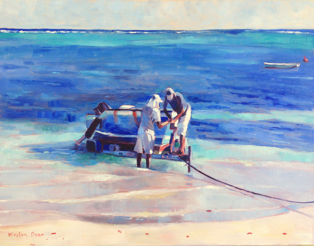 """Boat Launch, Oil on Canvas 14""""x18"""""""