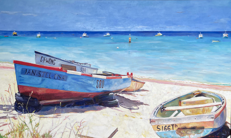 """A day of rest, Barbados. 36"""" x 60"""""""