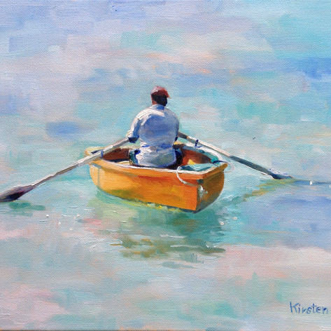 "The Rower, Oil on Canvas.  11""x14"""