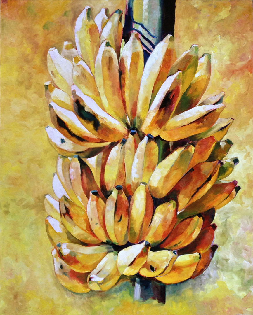 "yellow bananas Oil on Canvas, 60"" x 48"""