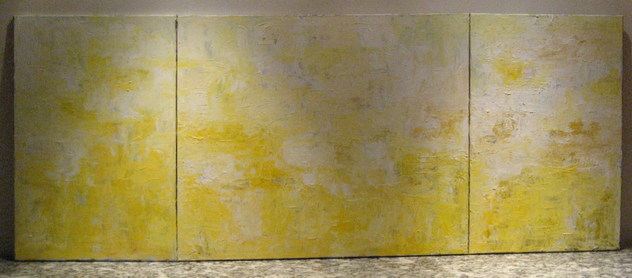 Yellow Triptych 6ft4x 30