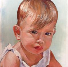 "Maya.  Oil on Canvas. 9"" x 12"""