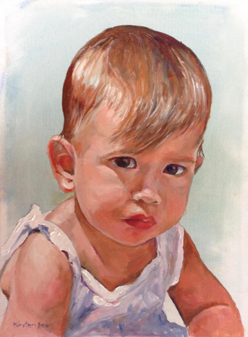 "Maya, Portrait, Oil on Canvas 9"" x 12"""