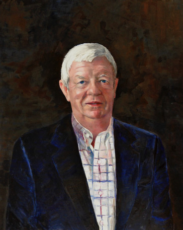 Portrait of James Gardiner.  Oil on Canvas