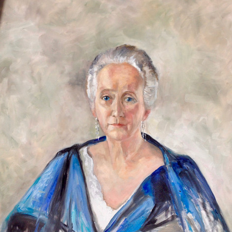 "Portrait of Alice Martha Worcester Howe, Oil on Canvas, 30"" x 36"""