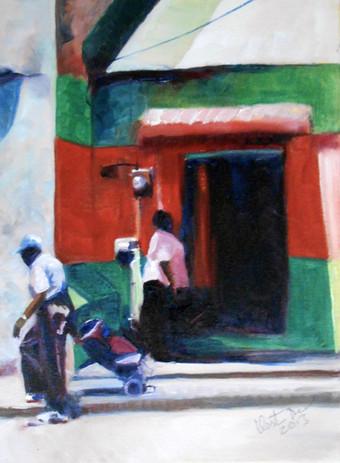 "Bakery, Orange Street, Oil on Canvas 12"" x 9"""