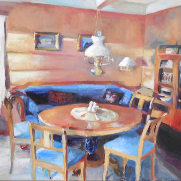 """Stuen (living room) Kjønnøya, Oil on Canvas 24"""" x 30"""""""