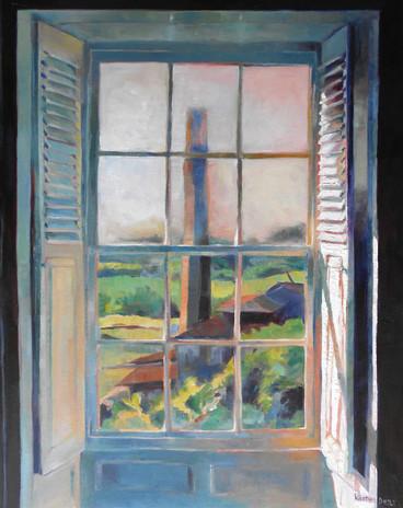"The Chimney St Nicholas Abbey. Oil on Canvas 30"" x 24"""