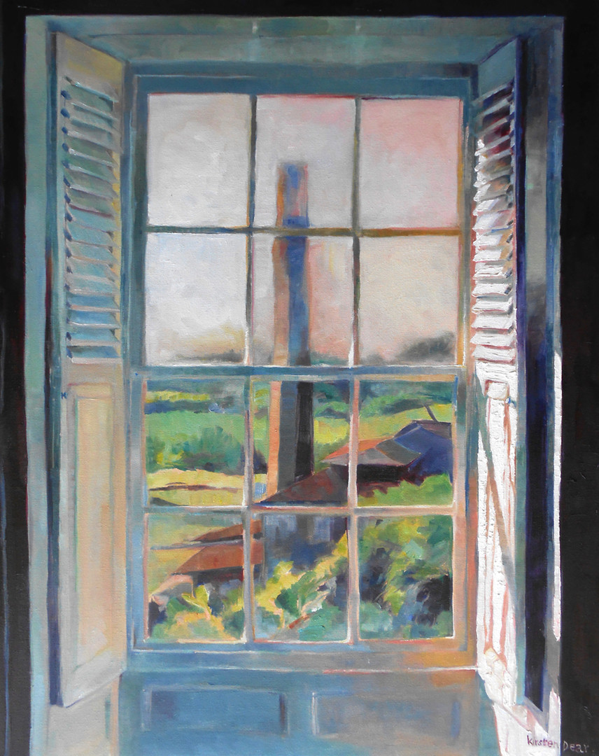 "The Chimney St Nicholas Abbey. Oil on Canvas 30"" x 24"""