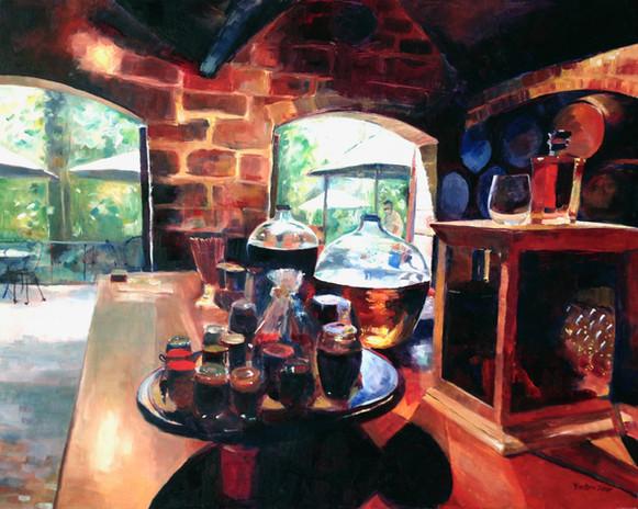 "Rum Tasting St Nicholas Abbey, Oil on Canvas 24"" x 30"""