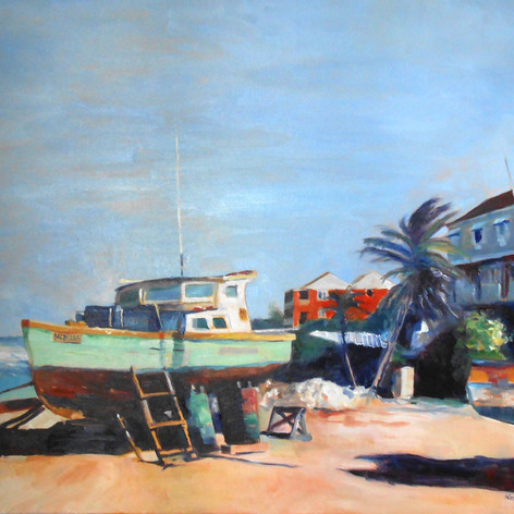 "Atlantis Hotel, Tent Bay.  Oil on Canvas, 24""x 30"" On the bracing East Coast of Barbados"