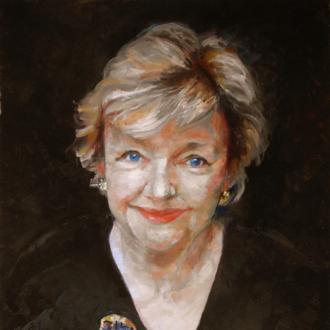 "Portrait of Maeve Binchy.  Oil on Canvas. 16"" x 20"""