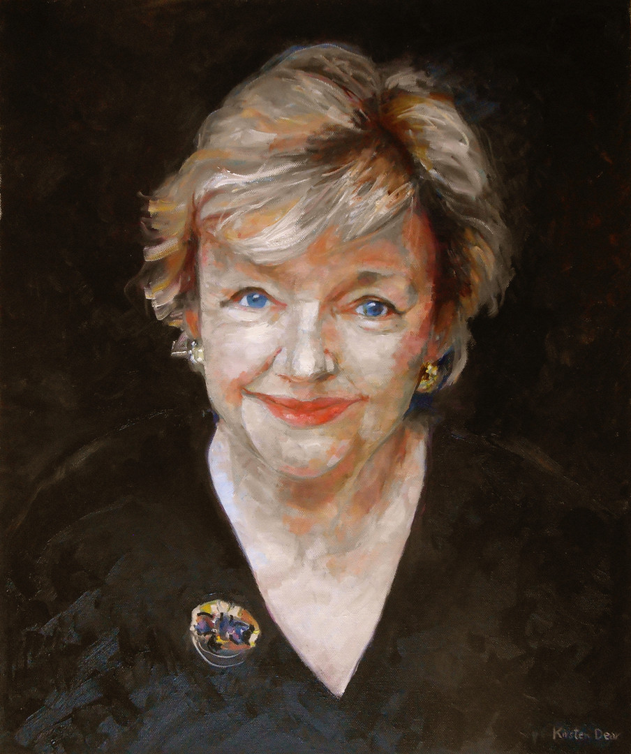 Portrait of Maeve Binchy. Oil on Canvas