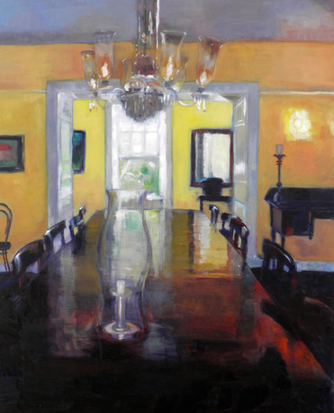 "Interior Fisherpond house.  Oil on Canvas 24"" x 30"""