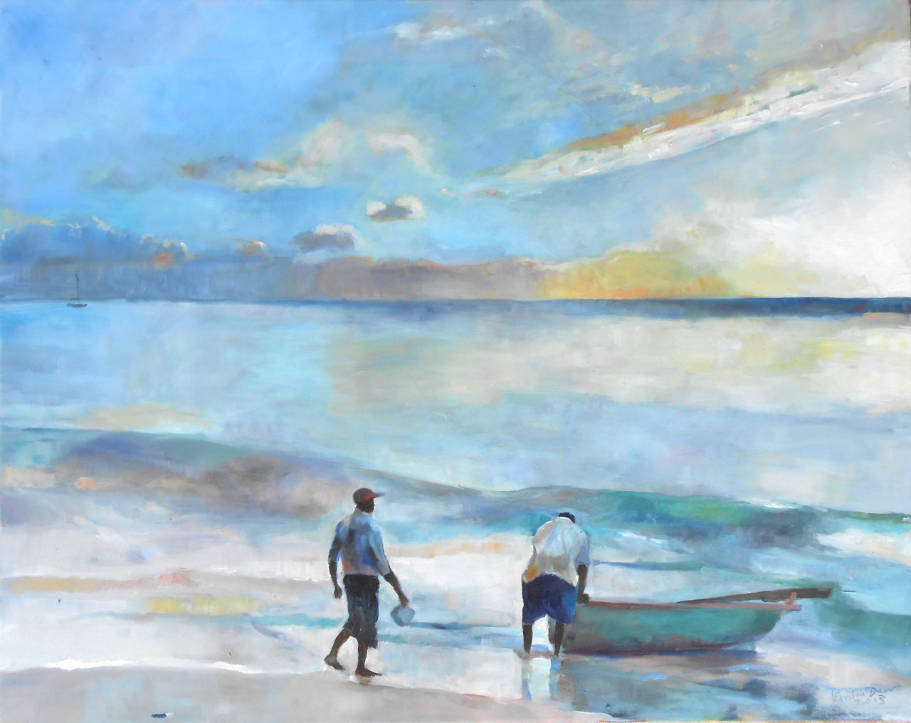 "Paynes Bay.  Oil on Canvas 24"" x 30"""