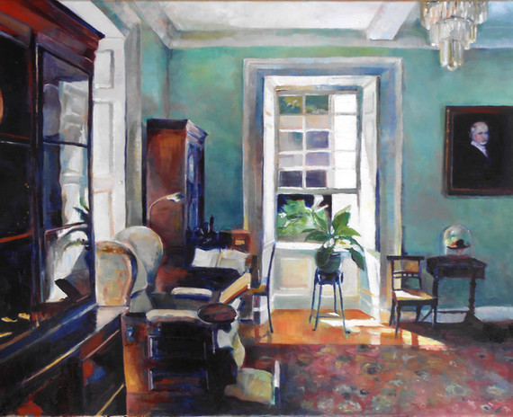 "The Study, St Nicholas Abbey.  Oil on Canvas 24"" x 30"""