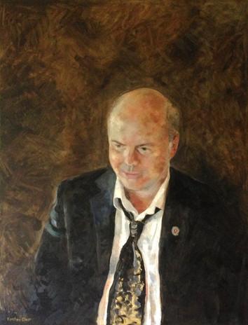 "Portrait of Nils Fredrik Torp.  Oil on Canvas  36"" x 48"""