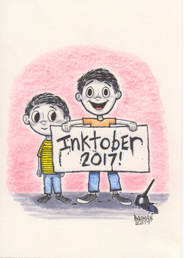 Inktober - Sweet Eddy B and Joe Schmoe