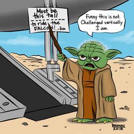 Vertically Challenged Yoda