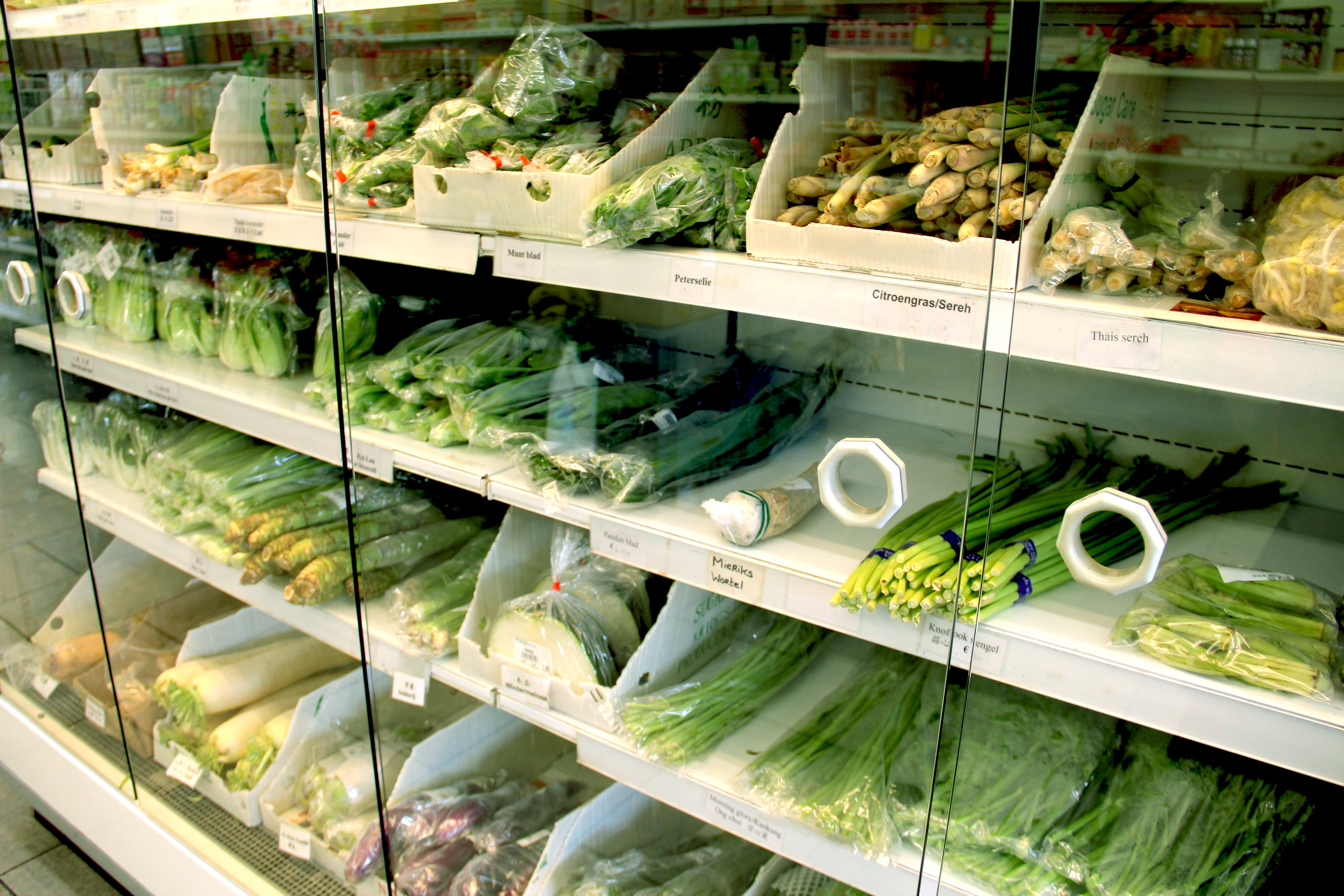 Verse groente van Toko Tjiau Jiang Utrecht