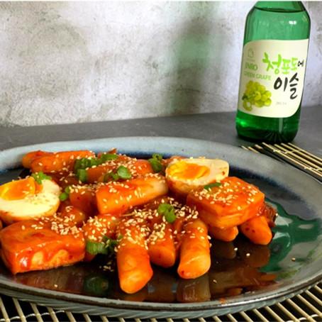 Tteokbokki (pittige Koreaanse rijstcake)