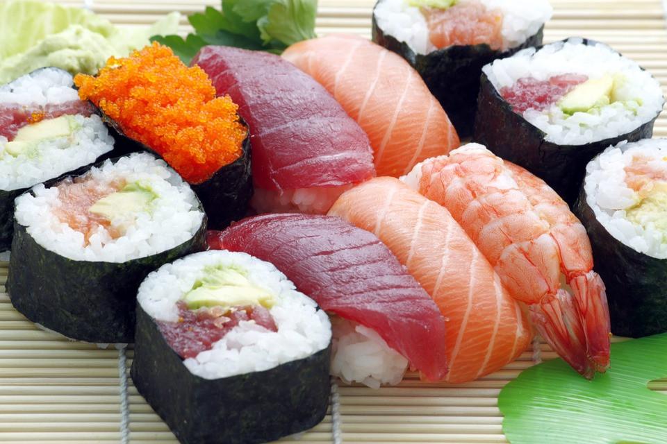 Japanse sushi gerecht