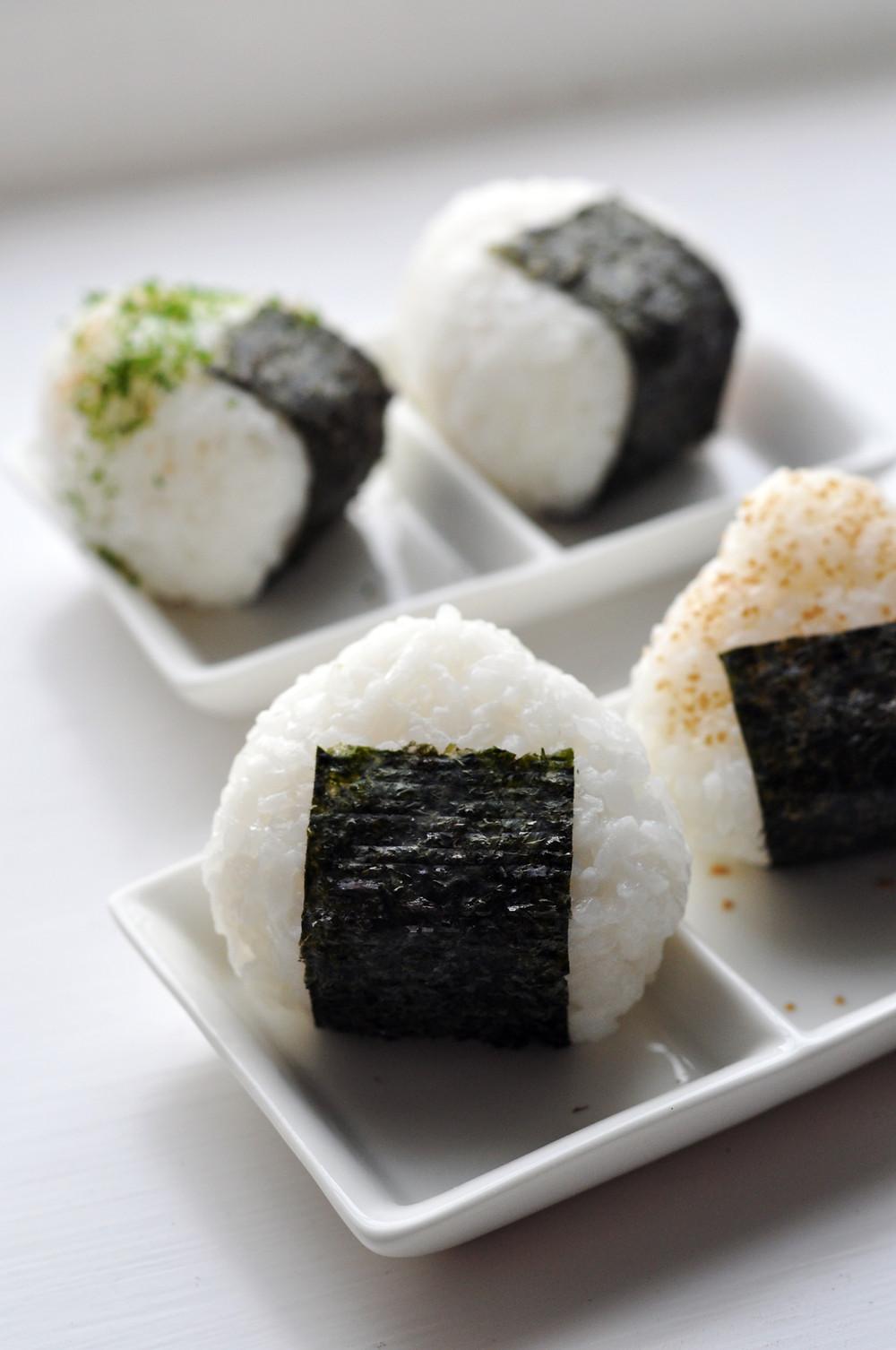 Japanse onigiri gerecht
