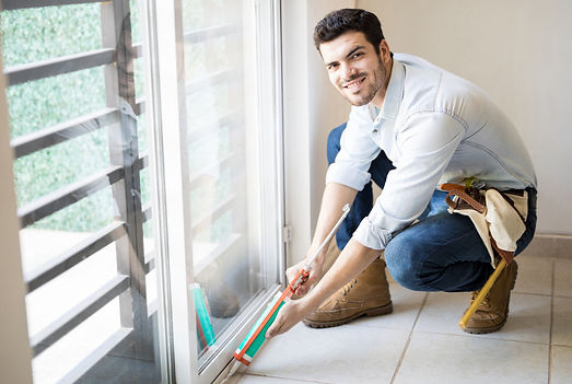 Copy of insulation expert working on air