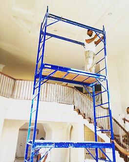 Norfolk Virginia handyman working on painting services jobs