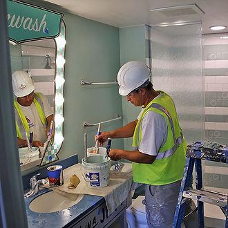 Norfolk Virginia bathroom remodeling being done by a handyman