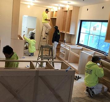 handyman working in Norfolk Virginia on kitchen remodeling services