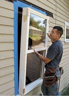 Corona California handyman working on window services