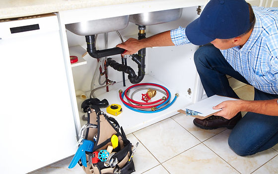 Hampton VA handyman working on plumbing