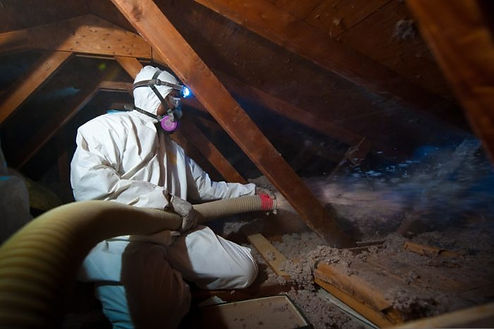 insulation expert working on basement insulation service in Indianapolis Indiana