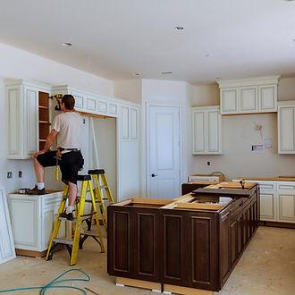 team of handymen working in Norfolk Virginia on kitchen remodeling services