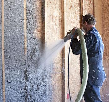 cellulose insulation service work done b