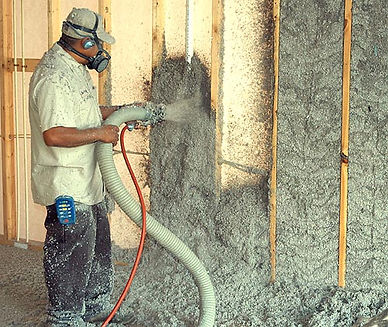 Baltimore, MD cellulose insulation services work being done by a team of insulation experts