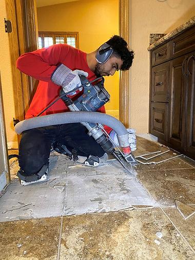 Norfolk Virginia handyman working on flooring services jobs