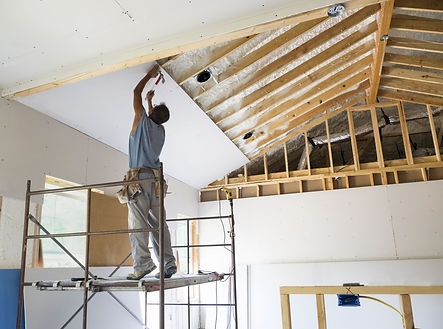 Indianapolis Indiana garage insulation service work being done by an insulation expert