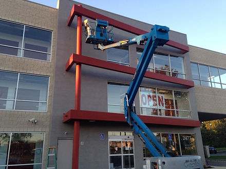 commercial painting Service work done by