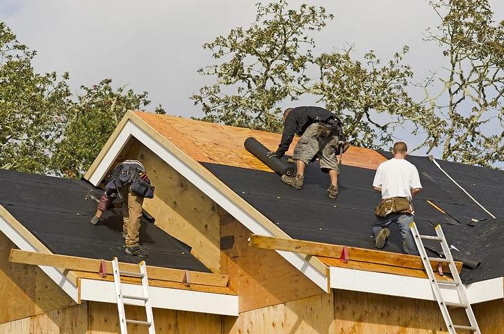 Hampton VA roofing services work being d