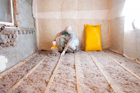 blown in insulation service work done by
